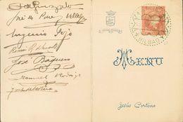 Sobre . 1930. Menú De La Comida-Homenaje En Honor De Don Antonio Guezala Celebrada En Bilbao Y Firmada Por Coleccionista - Espagne