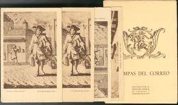 (*). (1970ca). Conjunto De Dos Juegos De Tarjetas Postales ESTAMPAS DEL CORREO, Editados Por La Dirección General De Cor - Espagne