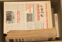 (1980ca). Conjunto De Libros Divulgativos De Filatelia Destacando La ENCICLOPEDIA DEL SELLO SARPE (tres Volúmenes) Y LA  - Spain