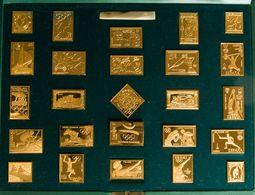 1992. Colección De Veinticinco Reproducciones De Sellos En Plata (chapadas En Oro) De La Colección De ATENAS A BARCELONA - Spain