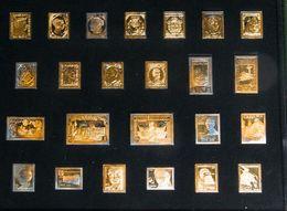 2000. Colección De Veinticuatro Reproducciones De Sellos En Plata (chapadas En Oro, Con Alguna Irisación Alguna De Ellas - Espagne