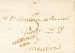 Sobre . 1770. MALAGA A MADRID. Marca ANDALVCIA / ALTA (P.E.5) Edición 2004. MAGNIFICA Y MUY RARA. - Spain