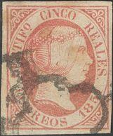 º6, 7, 9. 1851. 6 Cuartos Negro, 12 Cuartos Lila Y 5 Reales Rosa. BONITOS. - Espagne
