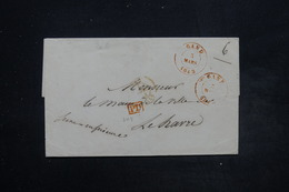 BELGIQUE - Lettre De Gand Pour Le Havre En 1843 En PD - L 26846 - 1830-1849 (Belgio Indipendente)
