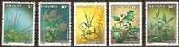 Rwanda Ruanda 1989 Yvertn°  1342-1346  *** MNH Cote 40,00 Euro  Flora Plantes Médicinales - 1980-89: Neufs
