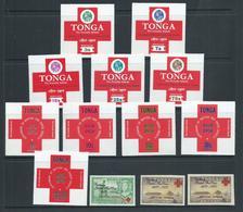 Tonga 1970 Red Cross Self Adhesive Postage, Air & Official Set 13 MNH - Tonga (1970-...)