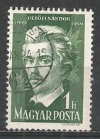Hungary 1950. Scott #869 (U) Sàndor Petöfi, Poet * - Oblitérés