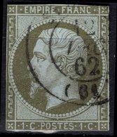 FRANCE  11 (o) Type Napoléon III Second Empire 1860 (CV 100 €) 2ème Choix - 1853-1860 Napoleon III