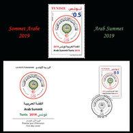 Tunisie 2019-  Sommet Arabe Tunisie 2019 (FDC+set) - Tunisia