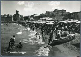 °°° Cartolina N. 104 Termoli Spiaggia Viaggiata °°° - Campobasso