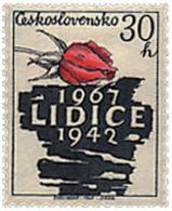Ref. 82858 * NEW *  - CZECHOSLOVAKIA . 1967. 25th ANNIVERSARY OF LIDICE DESTRUCTION. 25 ANIVERSARIO DE LA DESTRUCCION DE - Nuevos