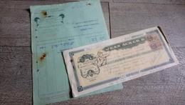 Facture Imprimerie Papeterie Banque De France 1927 Timbre Fiscal - France
