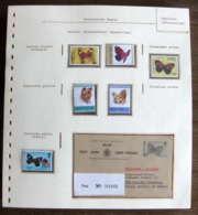 54699 Belize Entier Stationery 8c Registered Lucia Papillons Papillon Schmetterlinge Butterfly Butterflies Neufs ** MNH - Papillons