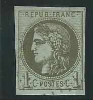 FRANCE: Obl., N° YT 39Ba, Rep.2, Olive Foncé, TB - 1870 Ausgabe Bordeaux