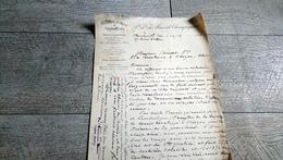 Facture Document Mines De Champagnac Houilles Cokes Ydes Cantal 1924 - France