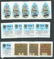 Tonga 1977 Captain Cook Farewell Bicentennial Self Adhesive Set 13 Postage Airs & Officials Complete MNH - Tonga (1970-...)