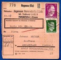 Colis Postal  -  Départ Hagenau  -  04/2/1943 - Allemagne