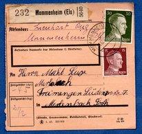 Colis Postal  -  Départ Mommenheim  --  21/12/1942 - Allemagne