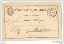 36-51 - Entier Postal 5 Cts Avec Superbes Cachets à Date De Langenthal Et Burgdorf 1874 - Ganzsachen