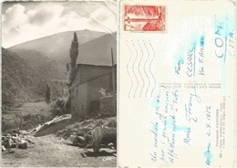 """Valls D'Andorra Aixirivall Old """"Home"""" And Le Pic Negre B/w Pcard 2sep1956 X Italy With Regular F15 Solo - Andorra"""