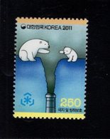 744504272 POSTFRIS  MINT NEVER HINGED EINWANDFREI SCOTT 2358 CARTOONS BEARS YEAR 2011 - Corée Du Sud