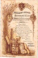 1 Carte Menu  Banquet Brasseurs Belges  Congres Annuel Brugge 1887  Grand Hôtel Du Commerce Bruges  Litho Daveluy Brugge - Menus