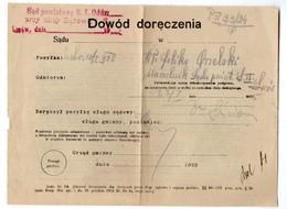 Poland Ukraine Lwow Court 1922 - 1919-1939 République