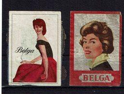 """2 ét. Boite Allumettes SUEDE ( Femmes """" Belga """" ) - Boites D'allumettes - Etiquettes"""