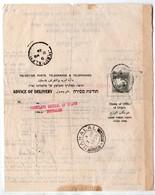 Judaica Polish Consul In Jerusalem Nahalal 1939 - Palestine