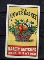 ét. Boite Allumettes SUEDE ( THE FLOWER BASKET ) - Boites D'allumettes - Etiquettes