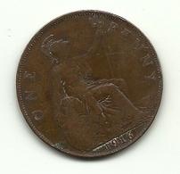 1916 - Gran Bretagna 1 Penny - 1902-1971 : Monete Post-Vittoriane