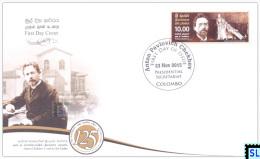 Sri Lanka Stamps 2015, Anton Chekhov, Russia, FDC - Sri Lanka (Ceylon) (1948-...)