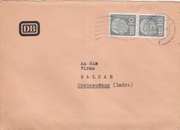 BRIEF SAARLAND. DEUTCH BAHN. Mi  386 MeF.  TO FRANCE / 2 - [7] République Fédérale