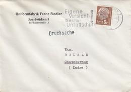 BRIEF SAARLAND. UNIFORMFABRIK FRANZ FIEDLER SAARBRÜCKEN. Mi  412  TO FRANCE / 2 - [7] Federal Republic