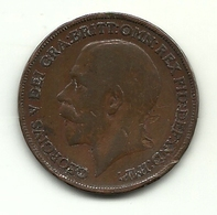1920 - Gran Bretagna 1 Penny - 1902-1971 : Monete Post-Vittoriane