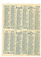 CALENDARIETTO CALENDARIO 1922 - Formato Piccolo : 1921-40