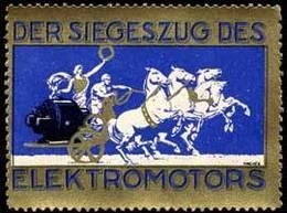 Der Siegeszug Des Elektromotors Reklamemarke - Erinnofilie