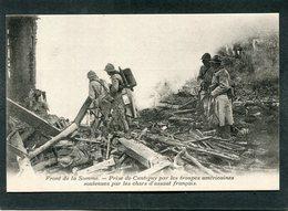 CPA - Front De La Somme - Prise De Cantigny Par Les Troupes Américaines Soutenues Par Les Chars D'assaut Français, Animé - Guerre 1914-18