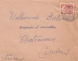 BRIEF SAARLAND.  BRITTEN. Mi  418  TO FRANCE / 2 - [7] République Fédérale