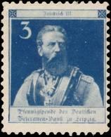 Leipzig: Kaiser Friedrich III. Reklamemarke - Erinnofilia