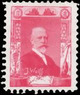 Julius Wolff Reklamemarke - Erinnofilia