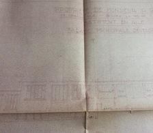 4 Plans D' Architecte D'un Immeuble En Angle (45x73, 42x73 Et 2 De 25x37 Cm-Bourg La Reine)première Moitié Du Siècle De - Architettura