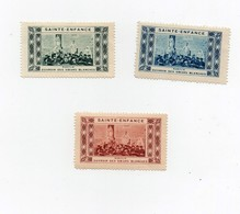 Erinnophilie Vignette Sainte Enfance Kabylie Ouvroir Des Soeurs Blanches (3 Vignettes) - Stamps