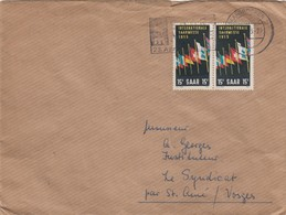 BRIEF SAARLAND.  SAARBRÜCKEN. Mi  359 MeF  TO FRANCE / 2 - [7] Repubblica Federale