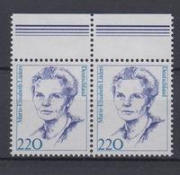Bund 1940 Waagerechtes Paar Mit Oberrand Frauen (XVI) 220 Pf Postfrisch - BRD