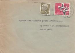 BRIEF SAARLAND.  SAARBRÜCKEN. Mi  411-408  TO FRANCE / 2 - [7] République Fédérale