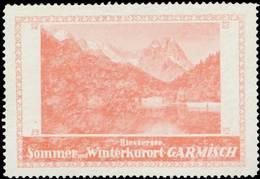 Garmisch: Riessersee Reklamemarke - Cinderellas