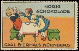 Nürnberg: Kind Trinkt Kakao Reklamemarke - Cinderellas