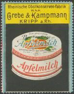 Kripp: Apfelmilch Reklamemarke - Vignetten (Erinnophilie)