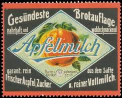 Kripp: Apfelmilch Gesündeste Brotauflage Reklamemarke - Vignetten (Erinnophilie)